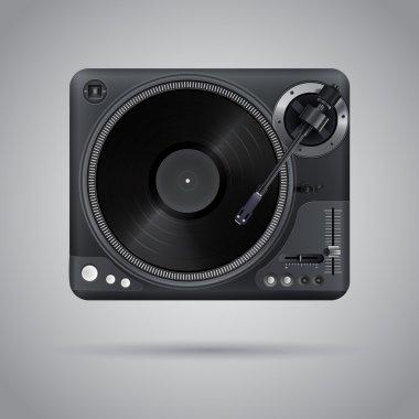Vector image of a classic DJ mixer