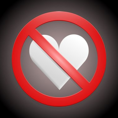 Vector sign - no broken hearts stock vector