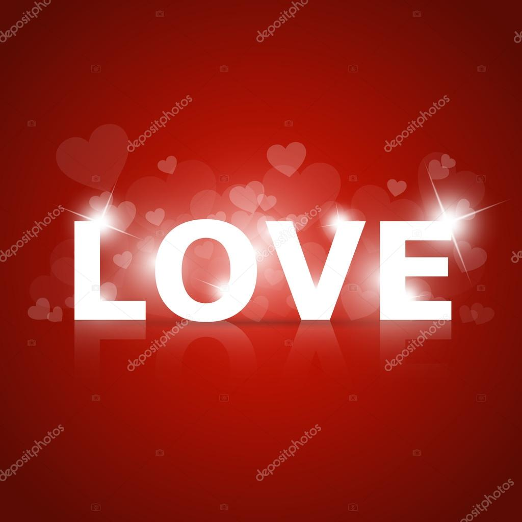 Vector shining sign of love. stock vector