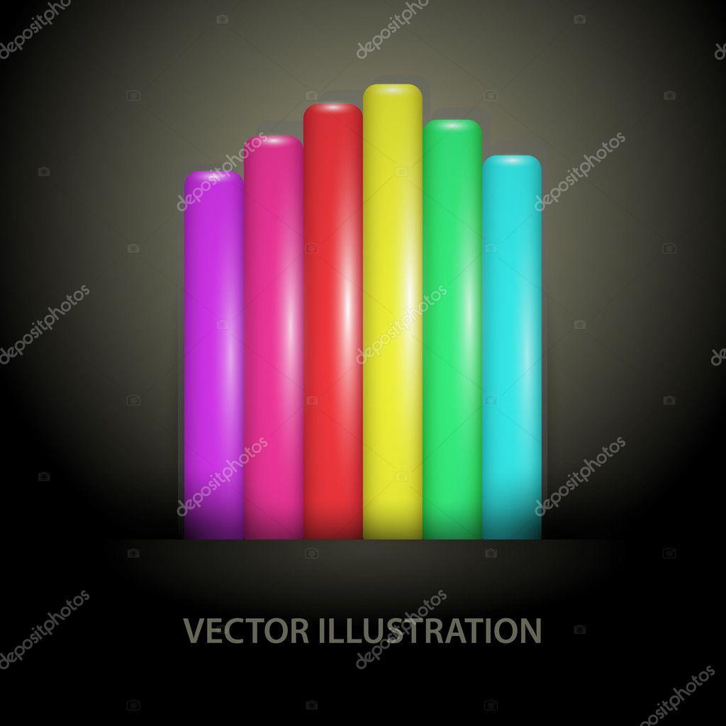 Rainbow gradient lines - vector illustrations stock vector
