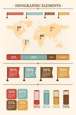 Vector set of infographics elements. stock vector