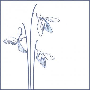 Vector blue flowers card stock vector