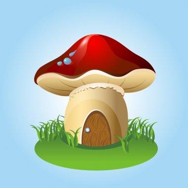 Mushroom home. Vector illustration. stock vector