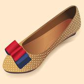 balerina cipő. Vektoros illusztráció.