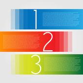 Egy két három - vektor a haladás ikonok a három lépést, és leírásuk