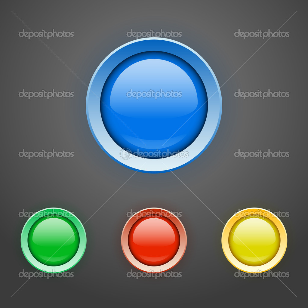 Vector set of colorful buttons. stock vector