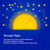 měsíčná noc - vektorové ilustrace