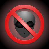 vektor znamení ukazující, že Žádní mimozemšťané nejsou povoleny