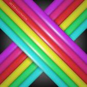 Rainbow gradient lines - vector illustrations