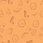 Bezešvé vzor ženské věci - vektorové ilustrace