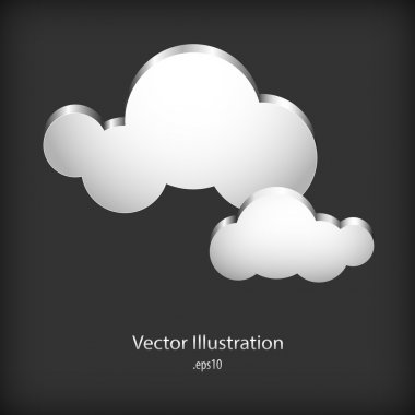 Speech cloud Bubbles. Vector illustration. stock vector