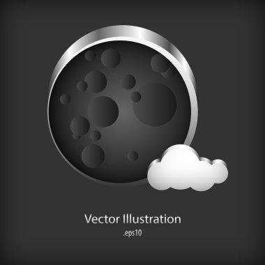 Vector metal bubble speech on metal background