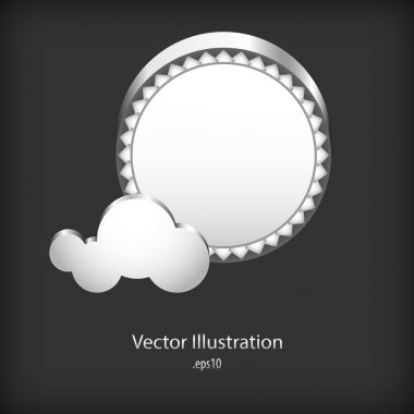 Abstract speech clouds of gear wheels stock vector