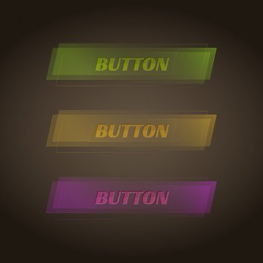 Set of three vector colorful buttons stock vector