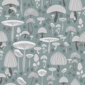 Pilze nahtloses Muster - Vektorillustration