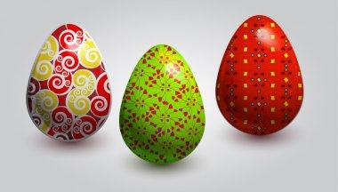 Fine painted eggs designed for Easter stock vector