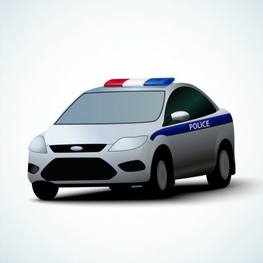 Vector illustration of police car stock vector