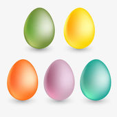 Vector easter eggs. Vector illustration.
