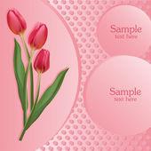 Csomó piros tulipán. vektoros illusztráció