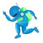 blue robot. Vector illustration.