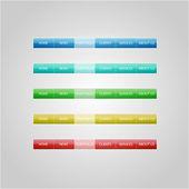 Website Design gombok. Vektoros illusztráció