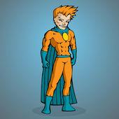 Superman auf blauem Hintergrund
