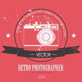 Retro camera with vintage background