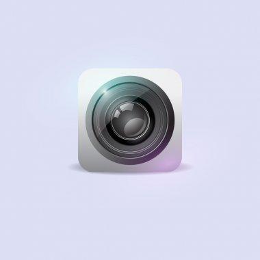 Camera icon. Vector illustration. stock vector
