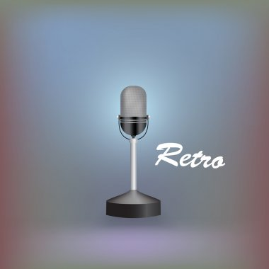 Retro microphone. Vector illustration. stock vector