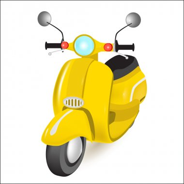 Yellow motorbike. Vector illustration. stock vector