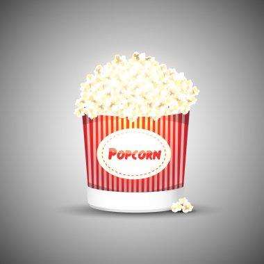 Vector popcorn. Vector illustration. stock vector