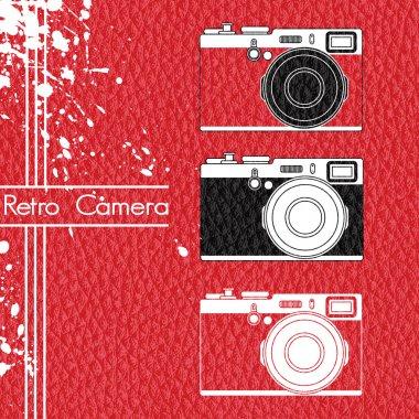 Old retro camera set stock vector