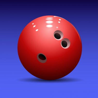 Bowling ball on a blue background stock vector