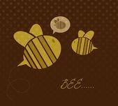 cute cartoon bees. Vector illustration.
