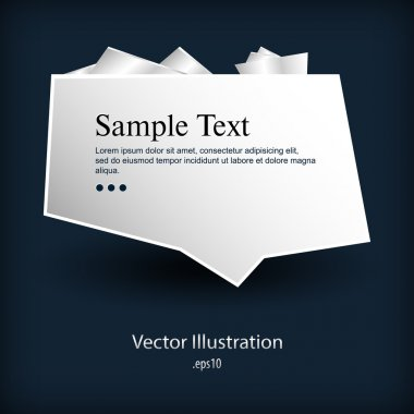 Plate with sample text stock vector
