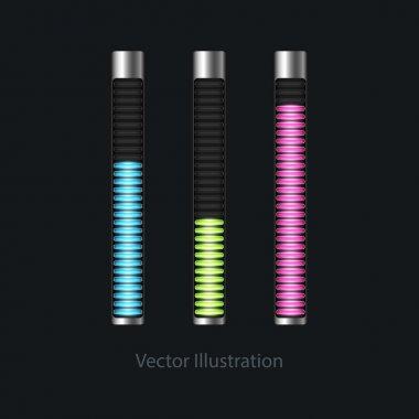 Loading bars for web design. Vector illustration. stock vector