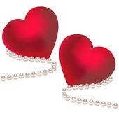 Valentin szívek vektoros illusztráció