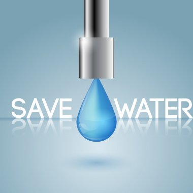 The concept of water conservation stock vector
