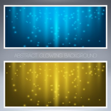 Frame with two bright yellow and blue colors stock vector