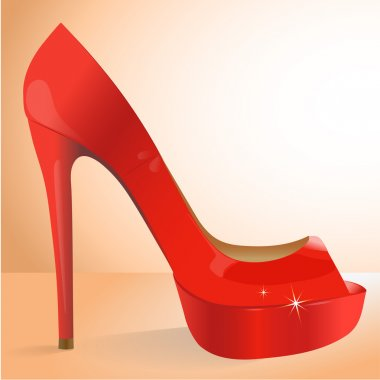 Vector red shoe. Vector illustration. stock vector