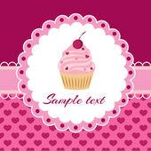 Vektorkarte mit Cupcake. Platz für Text.