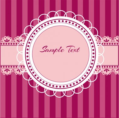 Pink vector background with lace stock vector