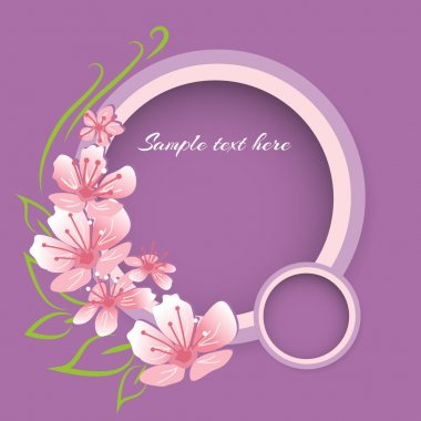 Vector background with pink spring flowers stock vector
