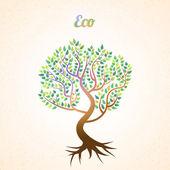 vektorové abstraktní strom se zelenými listy