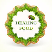 label with healing food