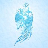 Főnix madár. Vektoros illusztráció.
