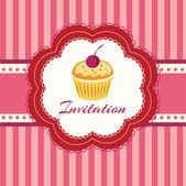Cupcake Hintergrund. Einladung. Vektorillustration.