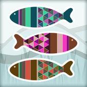 Okrasné akvarijní ryby, vektorová design