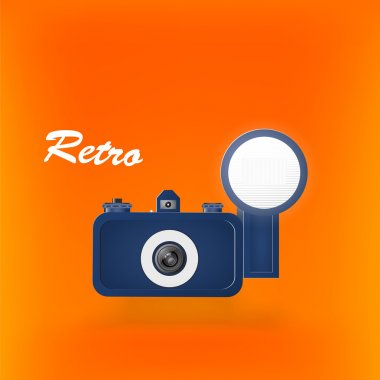 Retro photocamera. Vector illustration. stock vector