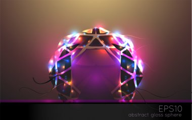 Abstract light arch. Vector illustration. stock vector